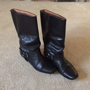 Vintage Frye harness boots